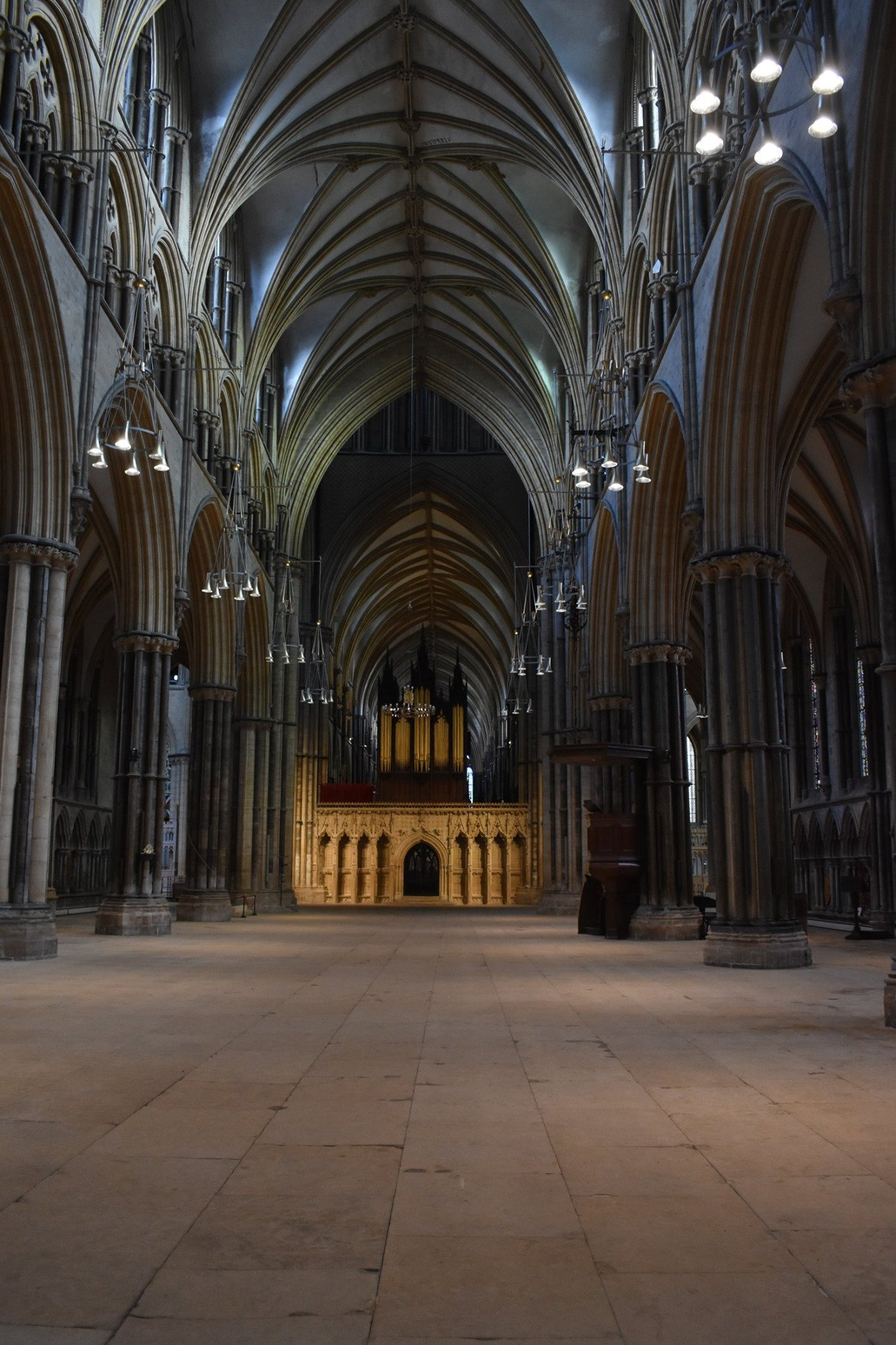 Empty Lincoln Cathedral